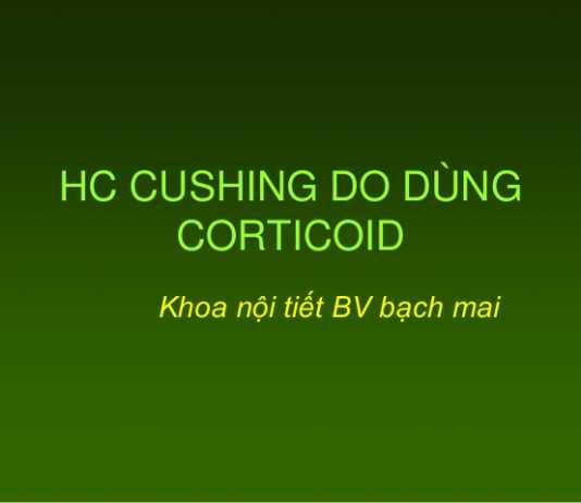 Hội chứng Cushing do dùng Corticoid