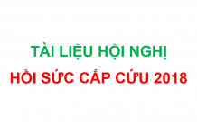 Tổng hợp tài liệu hội nghị hồi sức cấp cứu 2018