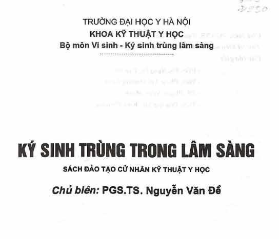 Ký Sinh Trùng Trong Lâm Sàng - ĐH Y Hà Nội