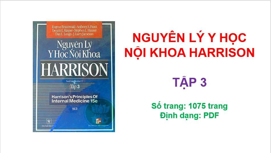 [PDF] Nguyên Lý Y Học Nội Khoa Harrison (Tiếng Việt) | Tập 3
