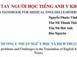 Sổ tay người học Tiếng Anh Y Khoa pdf