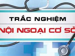 Trắc nghiệm nội ngoại cơ sở ĐH Y Dược TP.HCM
